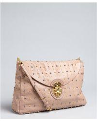 Miu Miu Cameo Studded Leather Shoulder Bag - Lyst