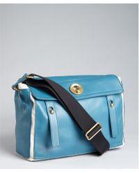 ysl chocolate leather hobo messenger bag