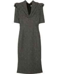 Zac Posen Stretchtweed Dress gray - Lyst