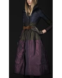 Burberry Prorsum Tonic Striped Down Filled Coat - Lyst