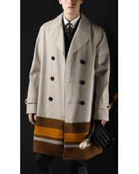 Burberry Prorsum Oversize College Stripe Trench Coat - Lyst