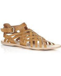 Alexander McQueen - Gladiator Leather Sandal - Lyst