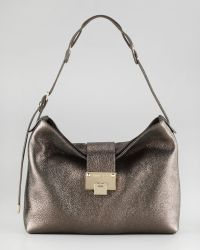 Jimmy Choo Rachel Glittering Leather Shoulder Bag - Lyst