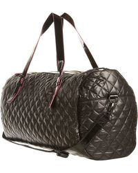 Topshop Quilted Barrel Holdall - Lyst