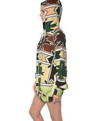 Yvonne S Maxi African Print Hooded Fleece Dress - Multicolor