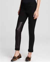 Rebecca Minkoff Pants Winston Ponte and Leather - Lyst