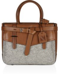 Reed Krakoff Boxer Leather and Felt Tote gray - Lyst