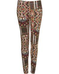 Topshop Aztec Print Leggings - Lyst