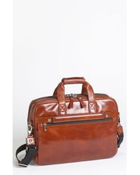 Bosca Double Compartment Leather Briefcase - Lyst
