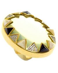 House Of Harlow 1960 Resin And Crystal Ring - Lyst