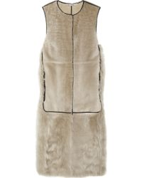 Reed Krakoff   Leather and Shearling Vest   Lyst