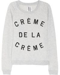 Zoe Karssen Crème De La Crème Cottonblend Terry Sweatshirt - Lyst