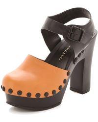Loeffler Randall Claudelie Platform Clog Sandals - Black