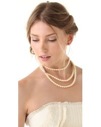 Made Her Think - Pave Marquis Mala Necklace - Lyst