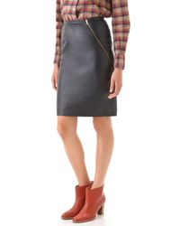 Boy by Band of Outsiders - Leather Pencil Skirt - Lyst