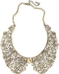 ModCloth An Ornate Fate Collar Necklace gold - Lyst