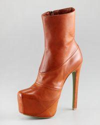 Ruthie Davis - Leather Platform Bootie - Lyst