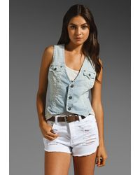 True Religion Roxanna Fitted Vest blue - Lyst