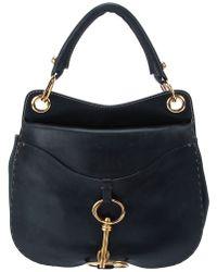 Donna Karan Leather Shoulder Bag - Black