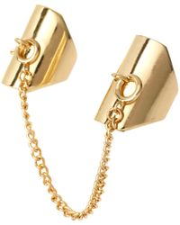 Asos Locksmith Chain Linked Rings - Lyst