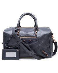 Balenciaga - Polly Leather Bowling Bag - Lyst