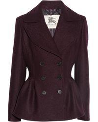 Burberry Felted Wool Peplum Jacket - Lyst