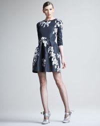 Oscar de la Renta Bijoux Printed Silk Dress - Lyst