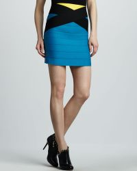 Pleasure Doing Business Crisscross Bandage Skirt - Lyst
