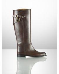 Ralph Lauren Collection Sachi Calfskin Riding Boot - Lyst