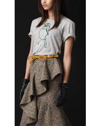 Burberry Prorsum Bird Graphic Cotton Tshirt - Lyst