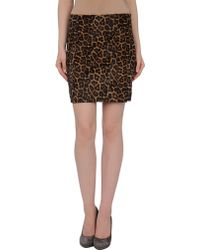 MICHAEL Michael Kors Leather Skirts animal - Lyst