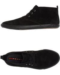 Prada Sport Hightop Dress Shoe - Lyst
