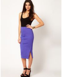 ASOS Collection Asos Pencil Skirt with Vent Front - Lyst
