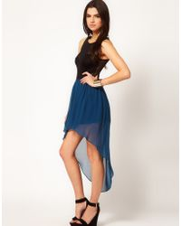 ASOS Collection Asos Chiffon Skirt with High Low Hem - Lyst