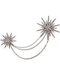 ASOS Starburst Double Brooch - Metallic