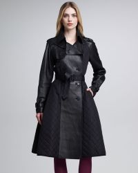 Jean Paul Gaultier - Quilted Tech Leather Princess Coat - Lyst