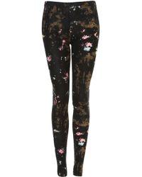 Topshop Mixed Tie Dye Leggings - Lyst