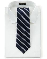 Hickey Freeman - Striped Silk Tie - Lyst