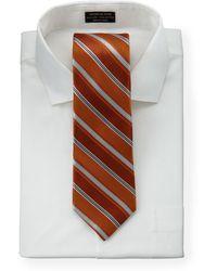 Hickey Freeman - Striped Silk Tie Orange - Lyst