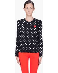 Play Comme Des Garçons Play Ladies Dot Tshirt Black - Lyst