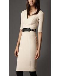 Burberry Crêpejersey Tailored Dress - Lyst