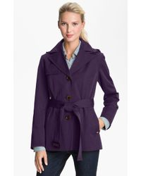 Ellen Tracy Single Breasted Trench Coat - Lyst