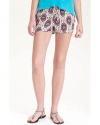 Rory Beca Orissa Print Silk Running Shorts - Lyst