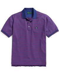 Brooks Brothers St Andrews Links Multi Textured Striped Polo - Lyst