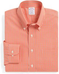 Brooks Brothers Noniron Regular Fit Tonal Check Sport Shirt - Lyst