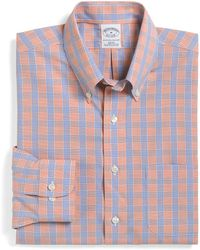 Brooks Brothers Noniron Slim Fit Glen Plaid Overcheck Sport Shirt - Lyst