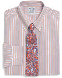 Brooks Brothers Supima Cotton Noniron Extraslim Fit Tonal Stripe Dress Shirt - Lyst