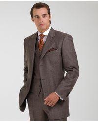 Brooks Brothers Madison Three piece Plaid Suit - Brown