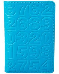 Comme des Garçons Wallet Sa360Ec Embossed Numbers Blue - Lyst