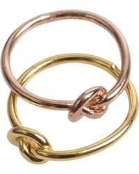 Erica Weiner - Knotted Nestling Rings Gold - Lyst